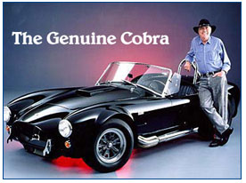 Picture Carroll Shelby with black classic shelby cobra