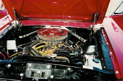 Picture red mustang engine
